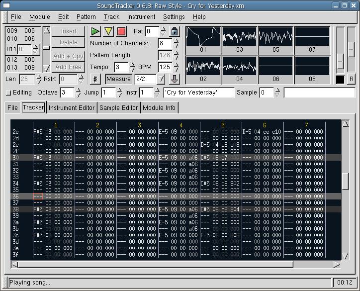 music tracker: